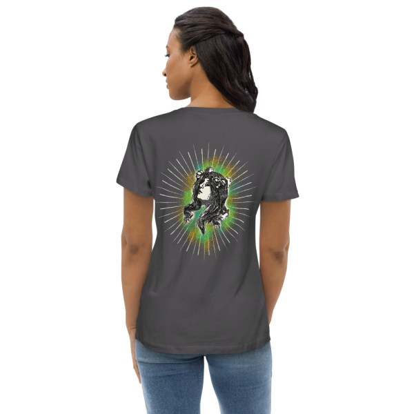 Anthracite Back - Pow – Women's Fitted Organic Tee