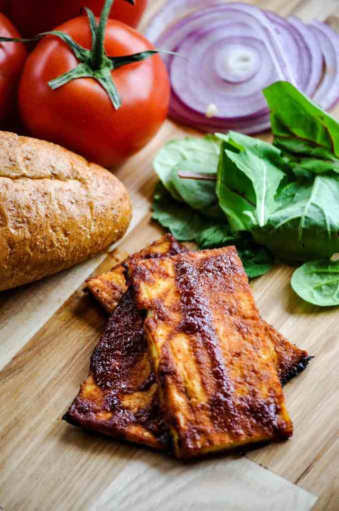 Barbecue tofu for 'meaty' sandwich cravings! http://www.veganblueberry.com