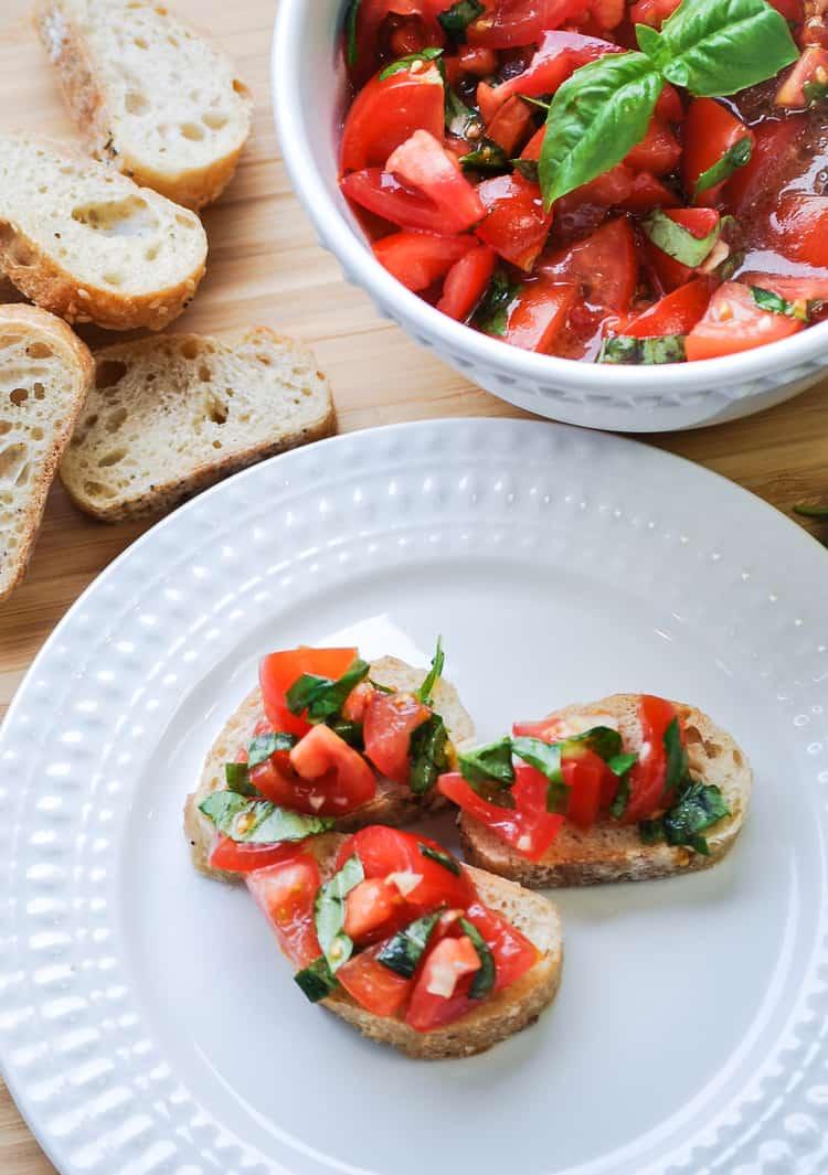 Fresh Bruschetta https://www.veganblueberry.com