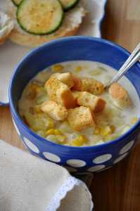 20 min Favorite Vegan Corn Chowder http://www.veganblueberry.com