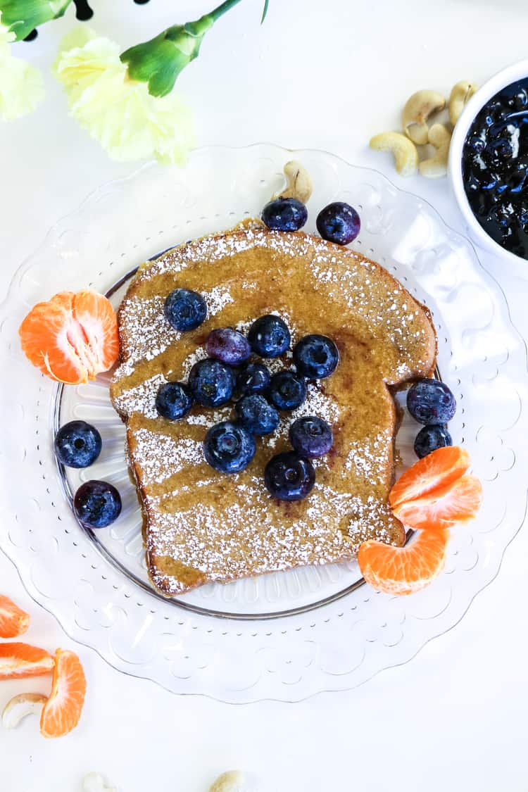 Orange French Toast (Vegan) http://www.veganblueberry.com