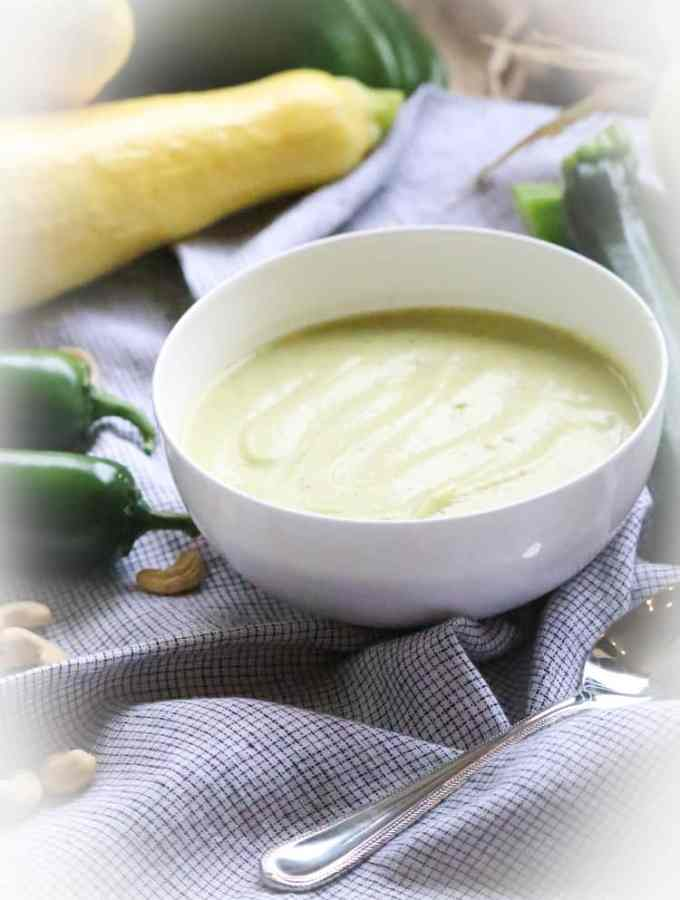 Vegan Cream of Zucchini Soup