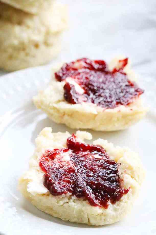 Split that Buttermilk Biscuit Open and slather it with jam!