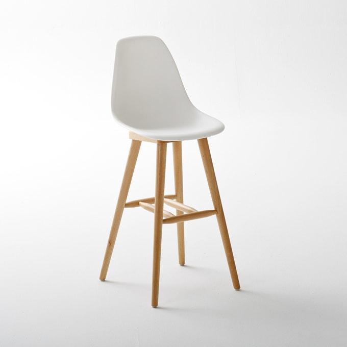 Wishlist - liste de souhaits - La Redoute - Chaise haute de bar blanche et bois