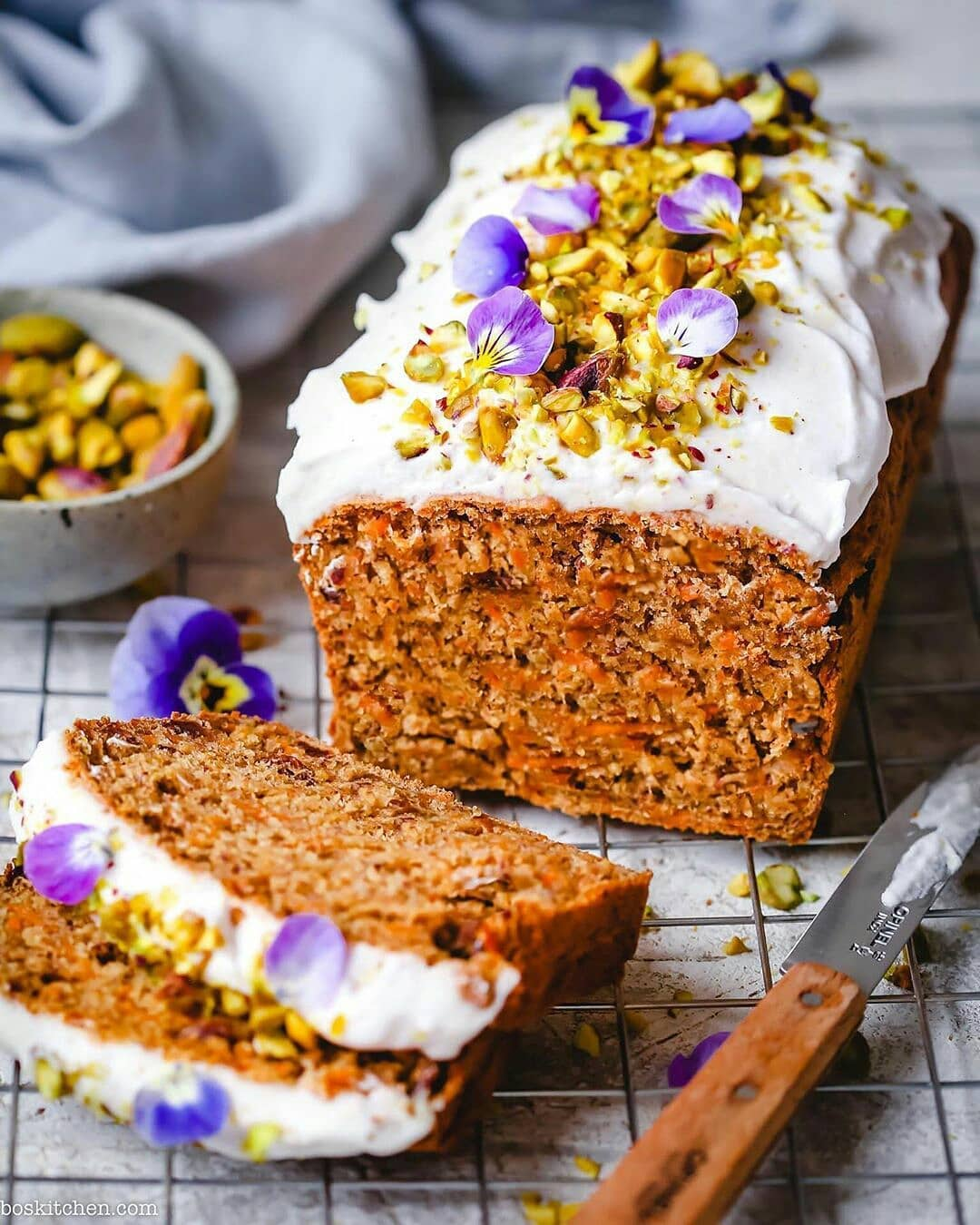 carrot cake with vanilla cream frosting by boskitchen display image  fa236a0c