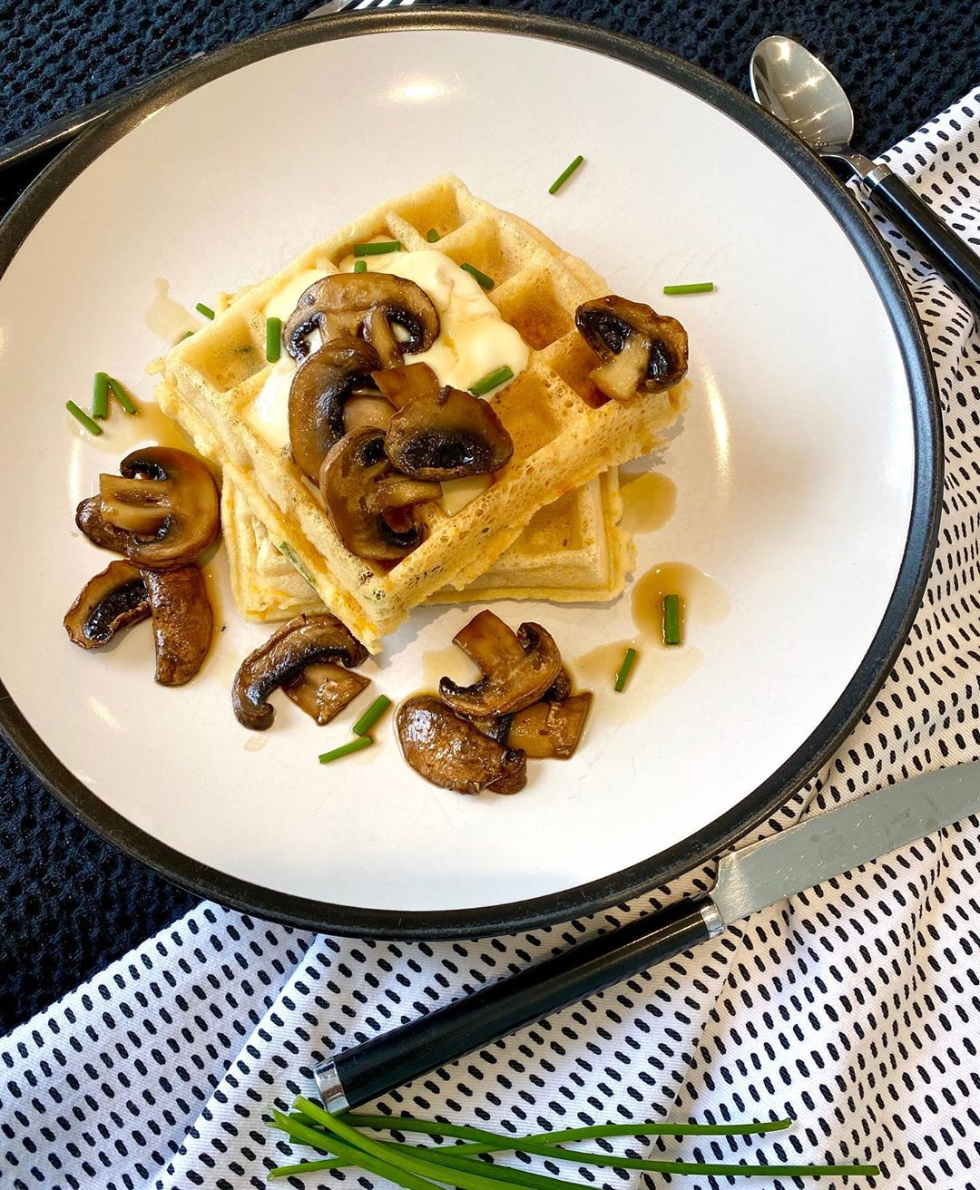 chive waffles with maple soy mushrooms multip img 0 c7dcf02d