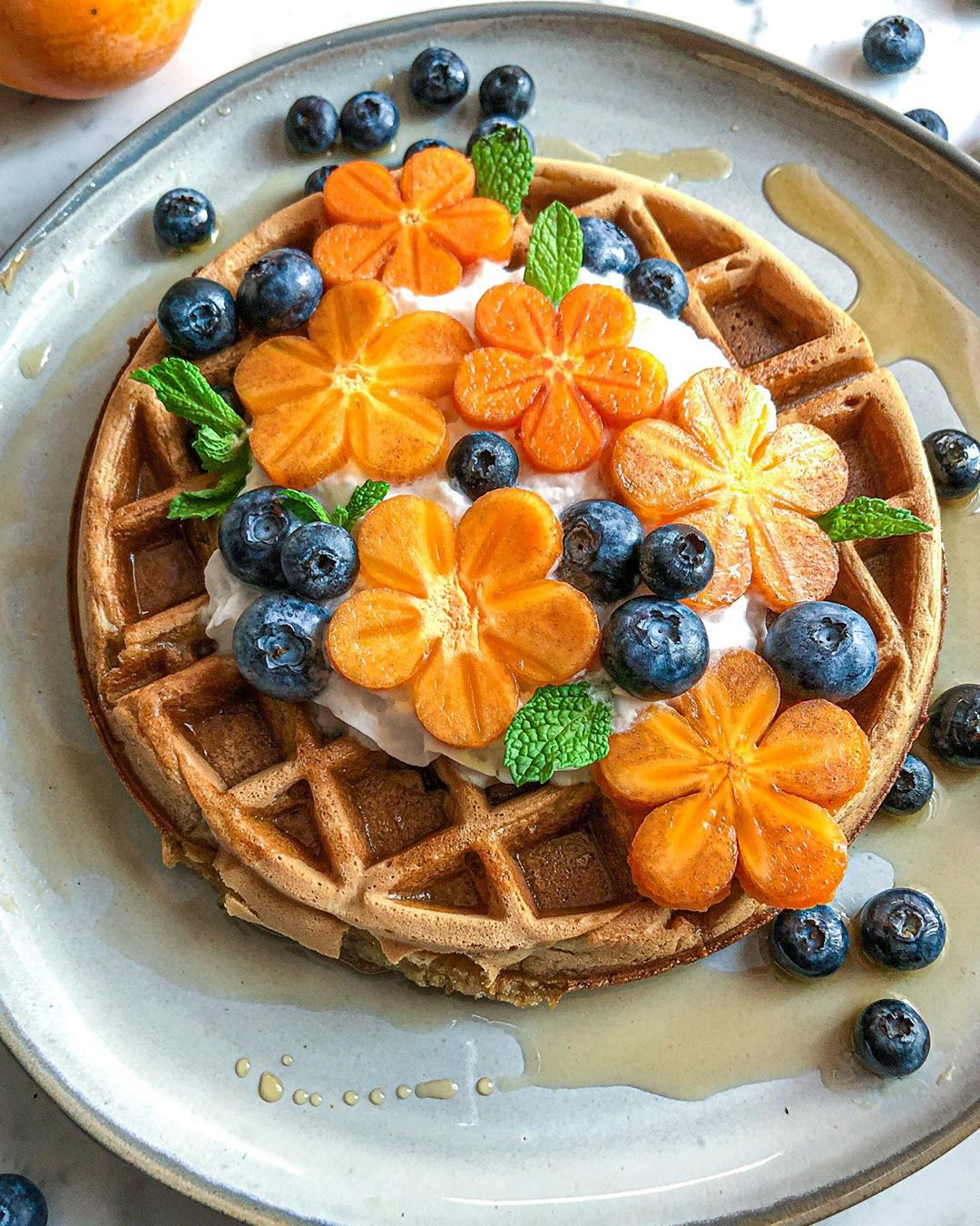 make these pumpkin spice waffles with coconut whip and persi display image  daad3dc9