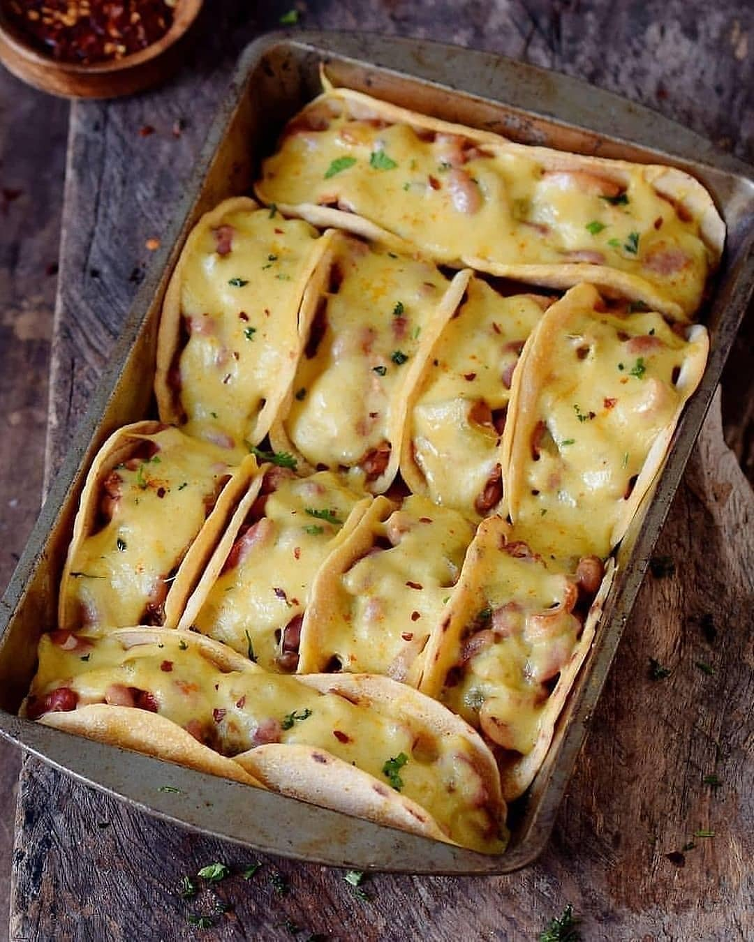 oven baked cheesy tacos for dinner by elavegan display image  2d5f66b9