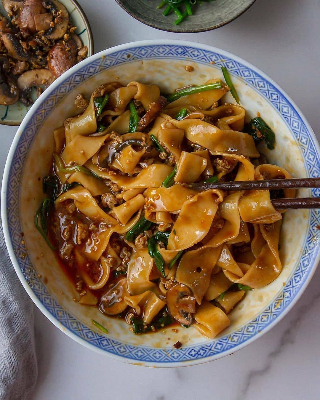 saucy homemade noodles bowl by woonheng display image  f6d2d13f