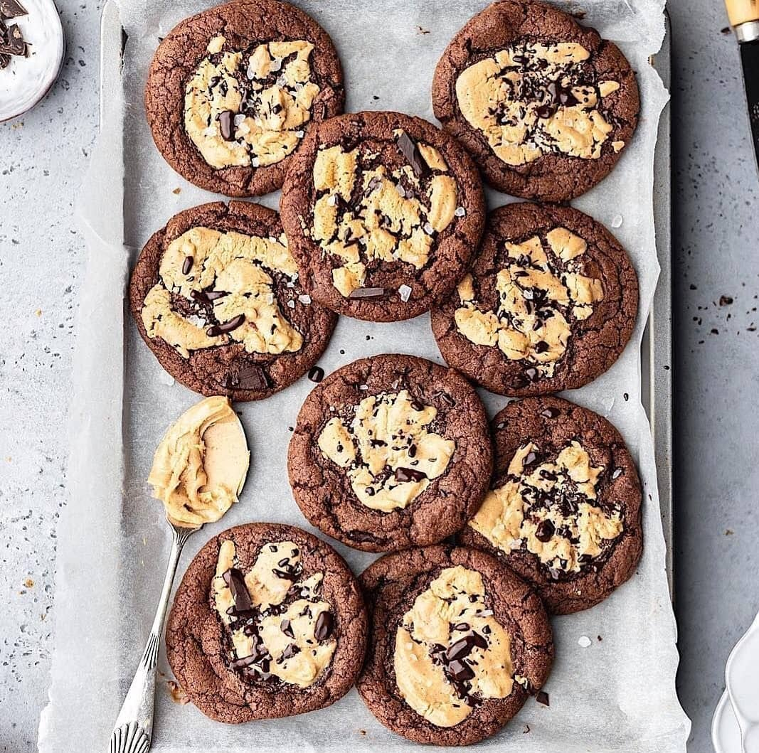 double chocolate chip peanut butter cookies display image  132ad52f