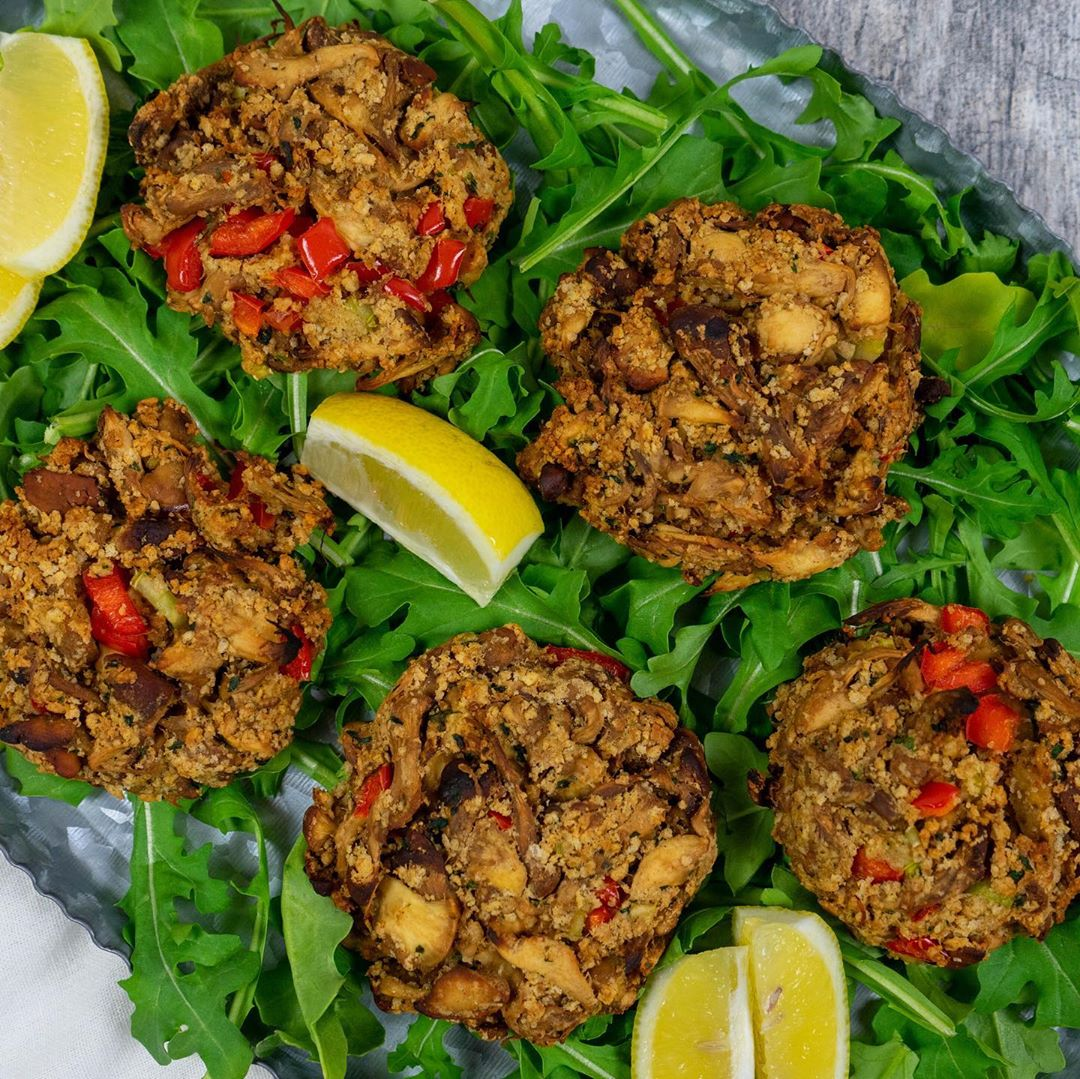 these vegan crabless cakes are made with my homegrown lions multip img 0 67ef41df