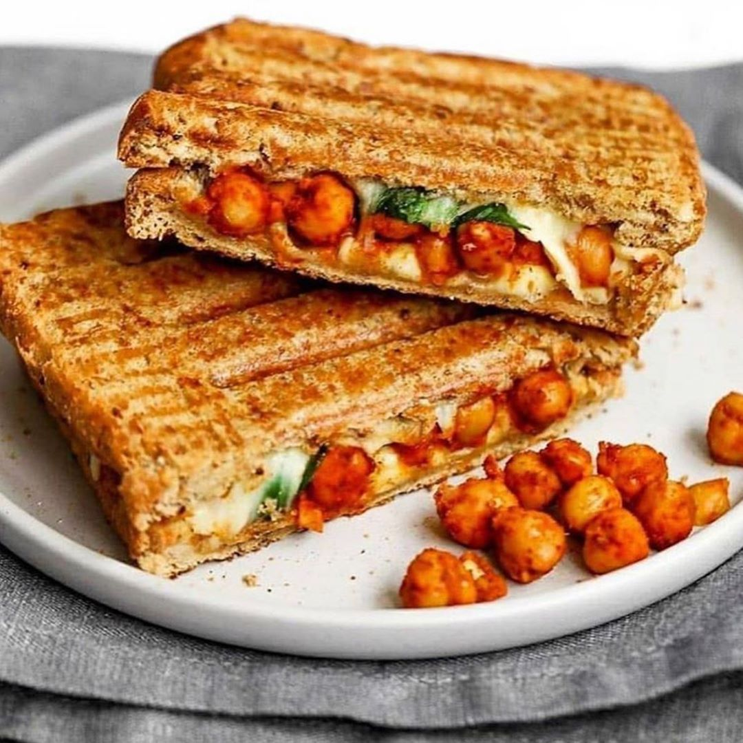 spicy chickpea cheese toastie sandwich display image  a42b72a7