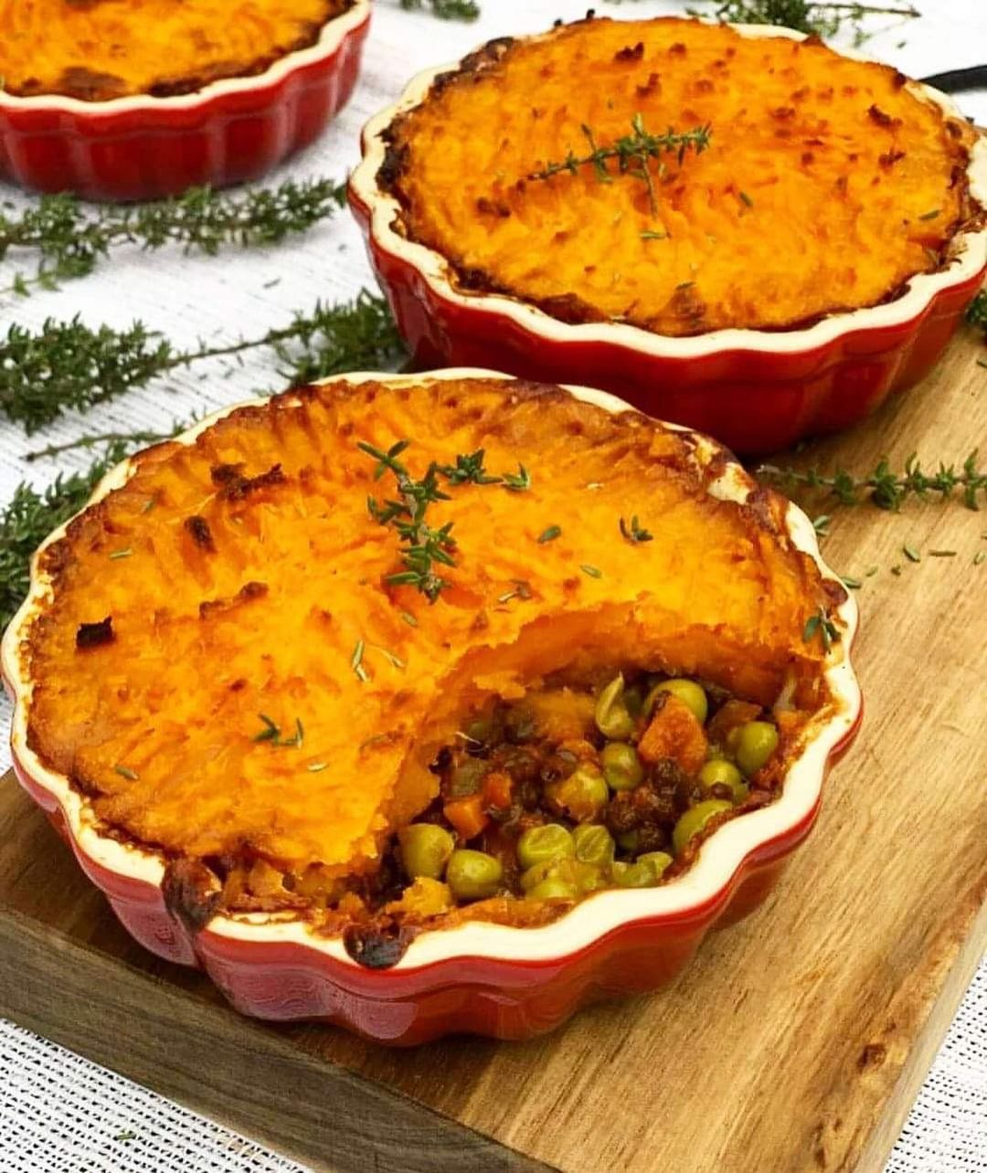 sweet potato and sage lentil shepherds pie from sunn display image  81ce996a
