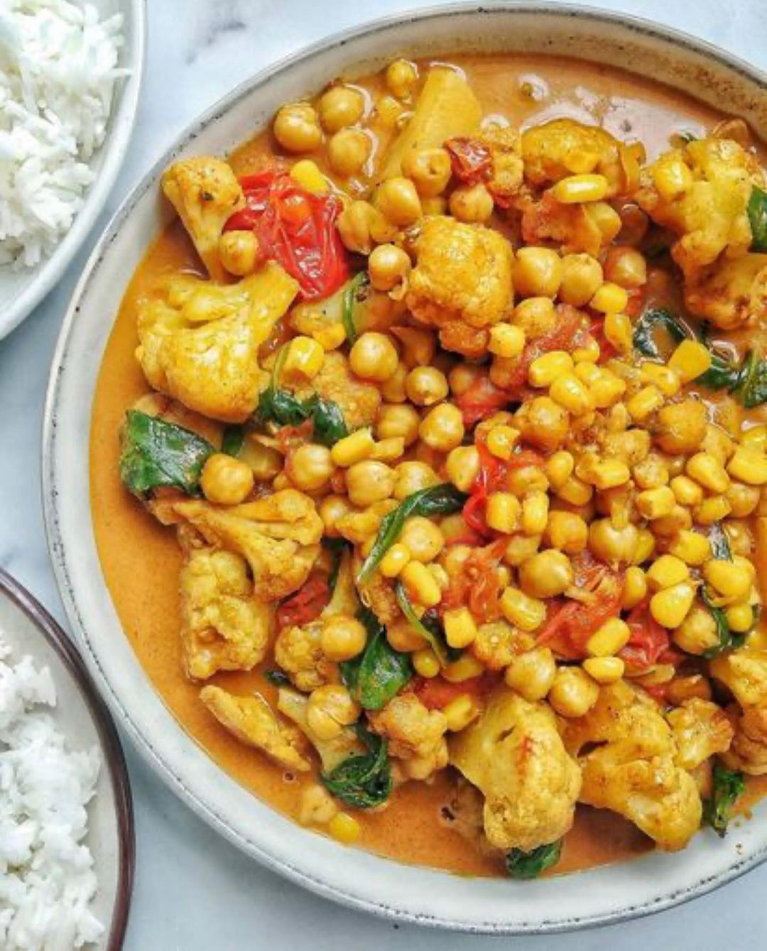 cauliflower and chickpeas are such a delicious combination display image cb