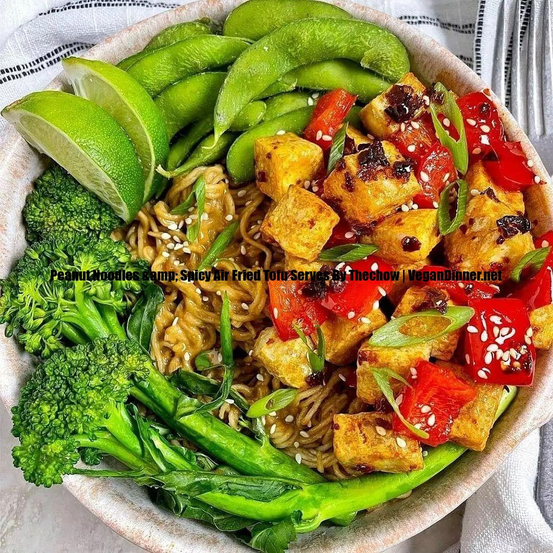peanut noodles & spicy air fried tofu serves by thechow display image fd