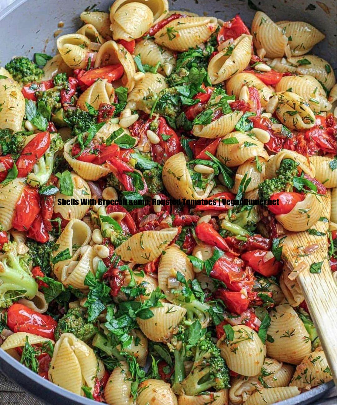 shells with broccoli & roasted tomatoes display image cce