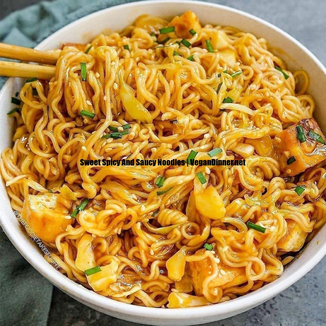sweet spicy and saucy noodles display image dda