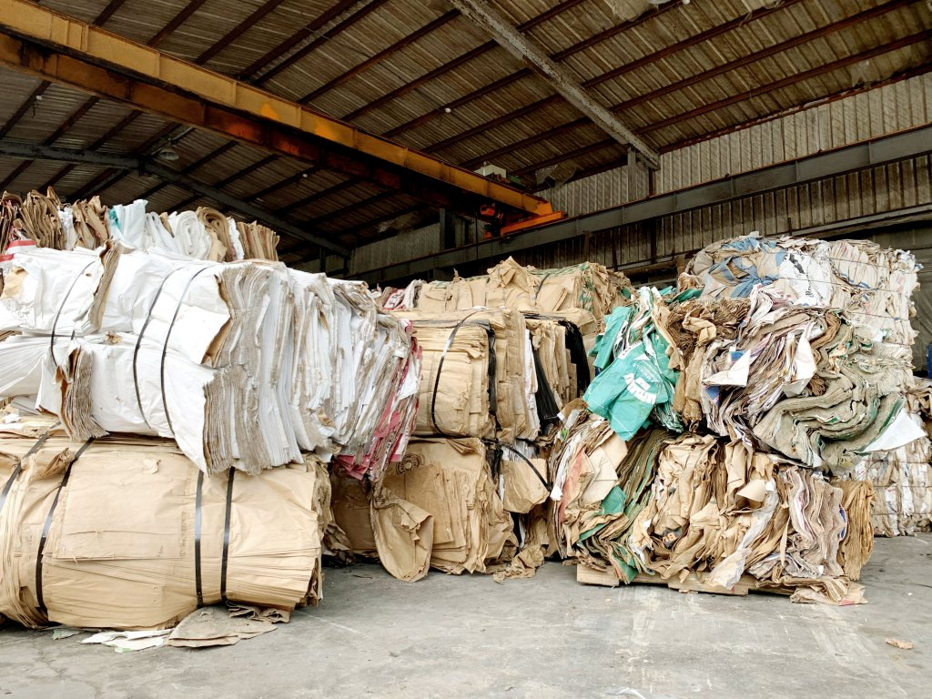 wasted cement bag recycling