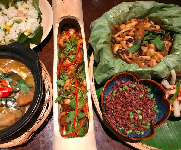 Salinda Resort vegan Vietnamese meal