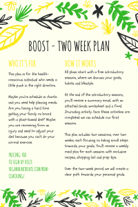 Boost Plant-Based Coaching Plan