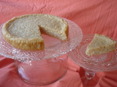 Saffron Rice Cake (Torta Di Riso Allo Zafferano) – Flavored with Sambuca & Almonds