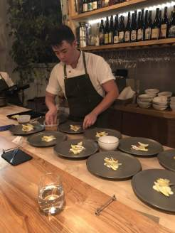 Kei plating the 2nd course