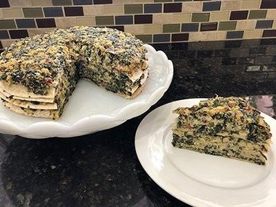 Savory Vegan Quesadilla Crepe Cake