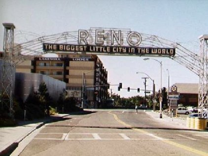 Reno's historic arch Photos by C.N. Plummer