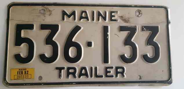 American Addicted: license plates Maine