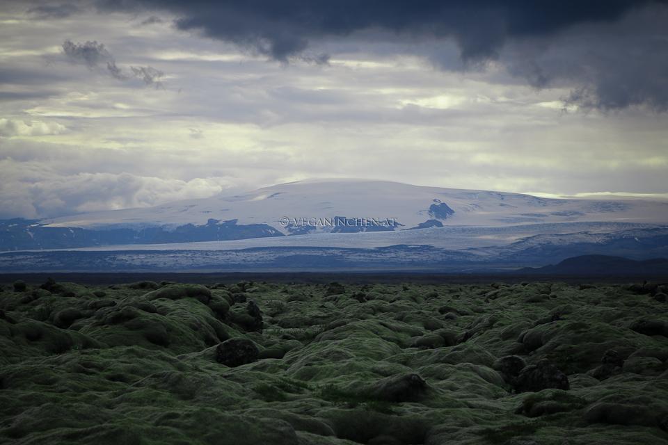 Eldhraun mit Katla, Island