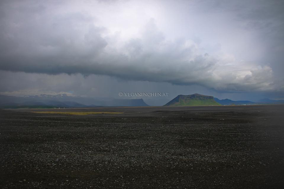 Sólheimasandur's black sand beach Island