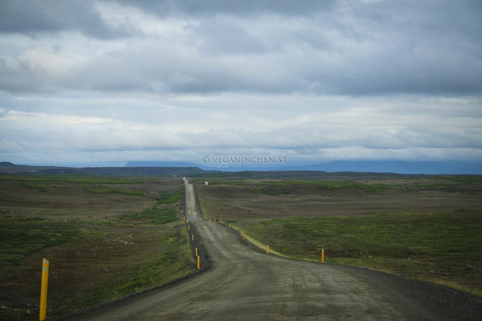 Mývatn gravel road Island