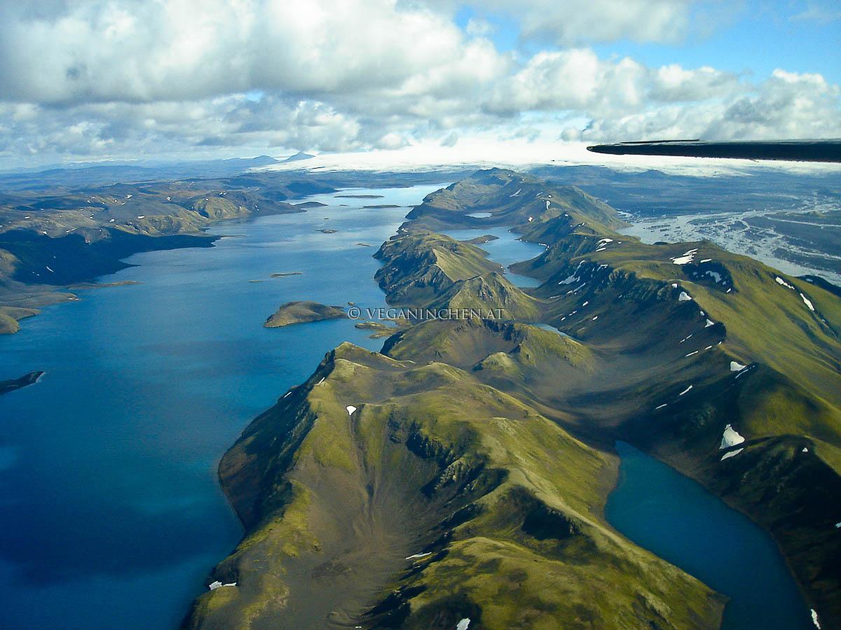 Island von oben veganinchen