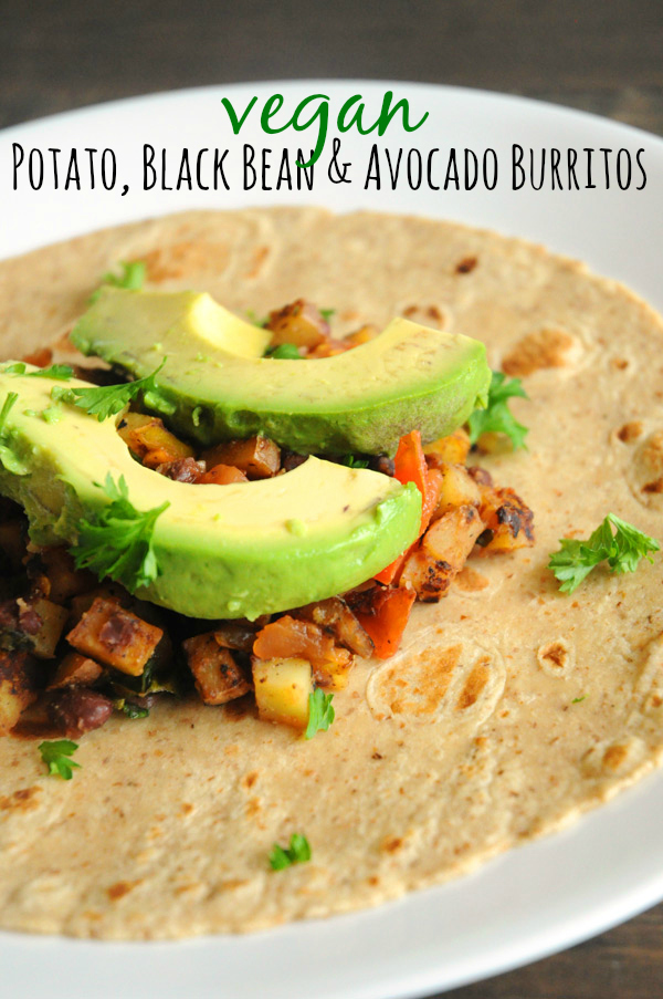 Vegan Potato Bean Burritos Vegan Recipes From Cassie Howard