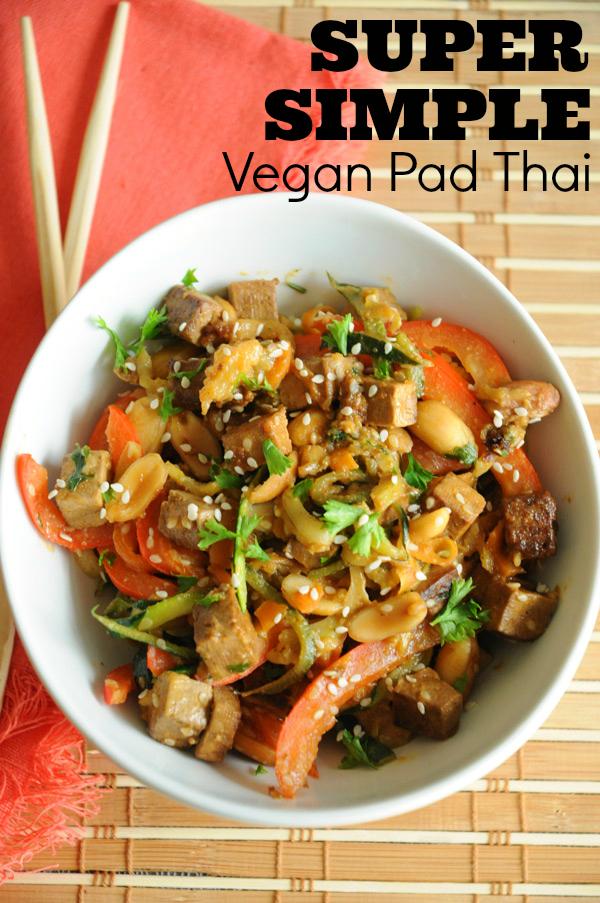 Vegan recipe: simple vegan pad thai recipe