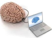 brain connected to laptop
