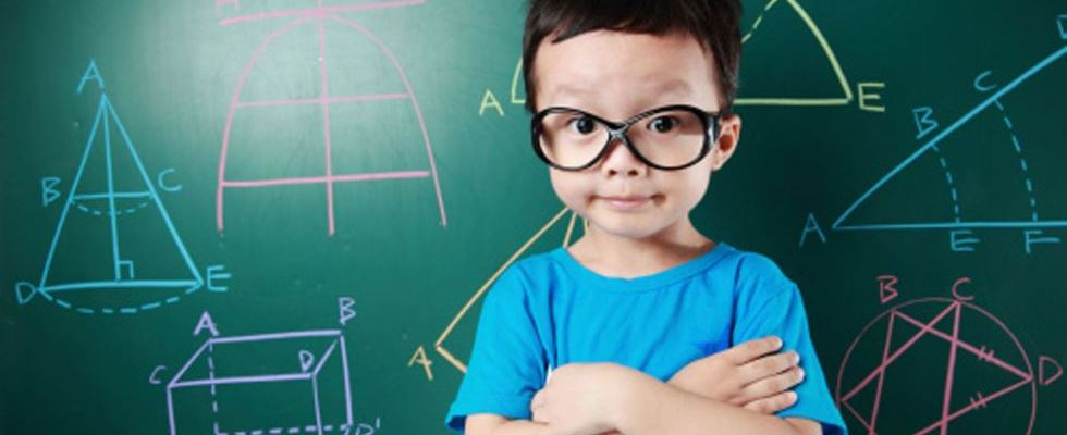 small boy with glasses