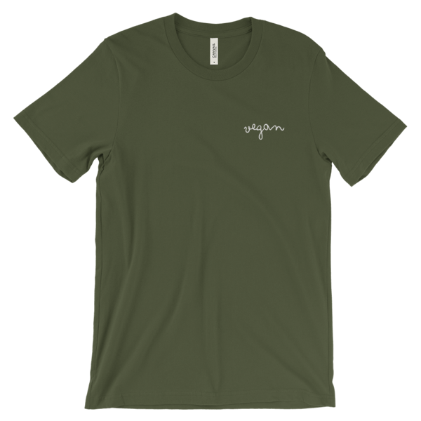 green vegan shirt