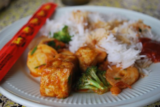 Tofu with Hearts of Palm