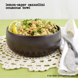 Lemon-Caper Cannellini Couscous Bowl