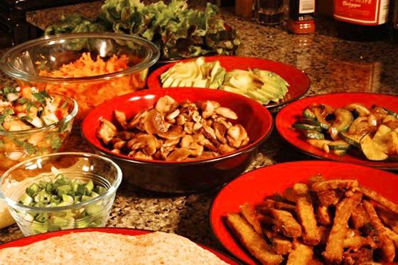 Build Your Own Vegan Taco/Fajita Night