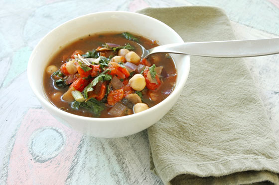 Easy Chickpea Tomato Soup