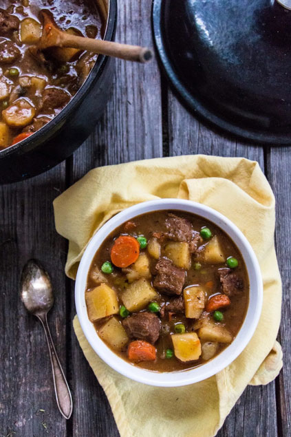Beef-Free Traditional Beef Stew by Steven at Nut-Free Vegan