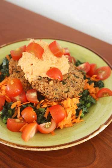 Quinoa Lentil Chipotle Burgers