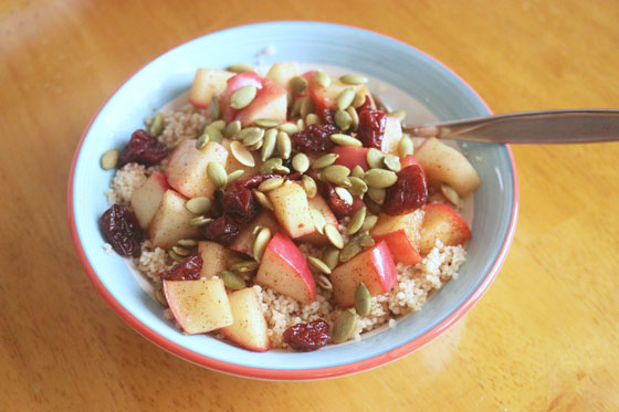 Spiced Apple Couscous Breakfast Recipe