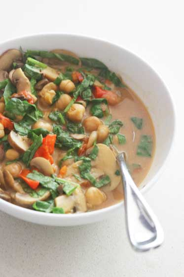 Thai Coconut Chickpea Stew in an Instant Pot or other electric pressure cooker