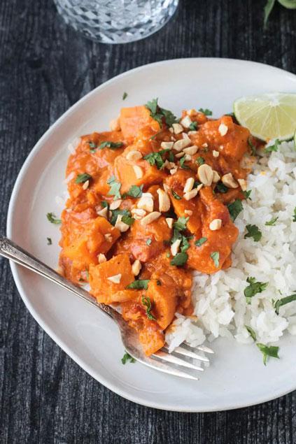 Thai Sweet Potato Curry on Veggie Inspired