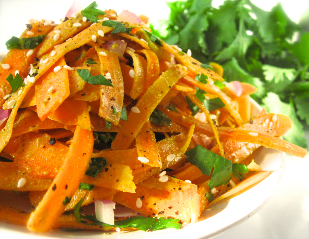 indian-style carrot salad veganprogram vegan salad appetizer