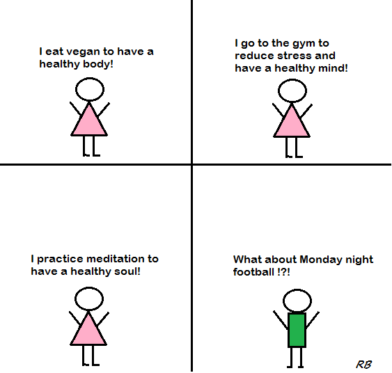 cartoon healthy body mind soul veganprogram