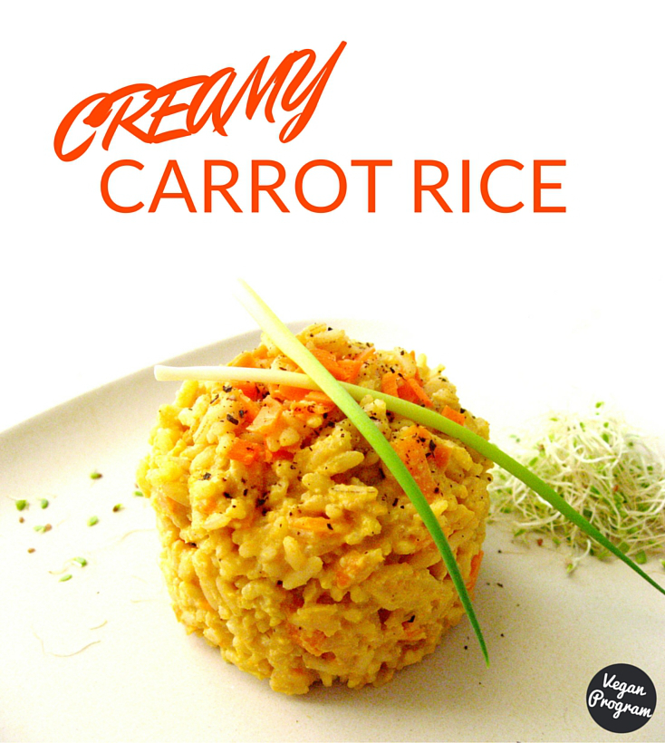 creamy vegan carrot rice veganprogram